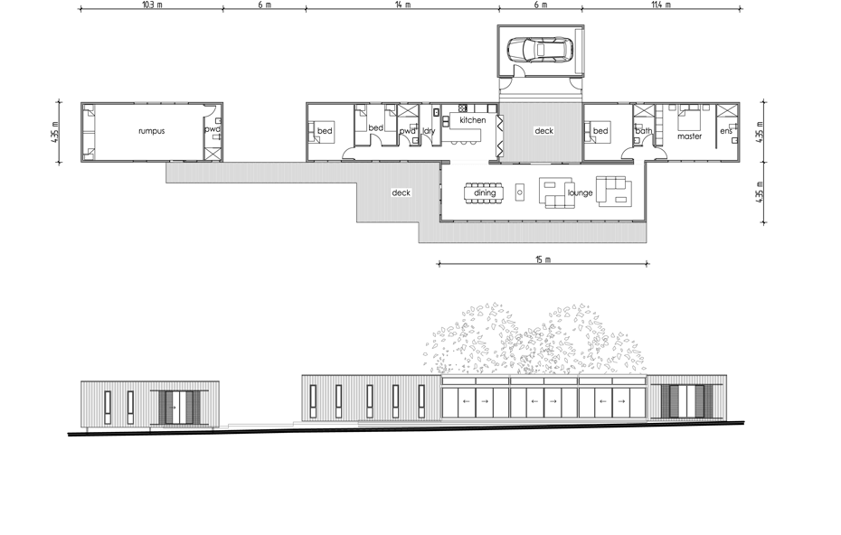 Merricks Modular Beach House Floor Plan