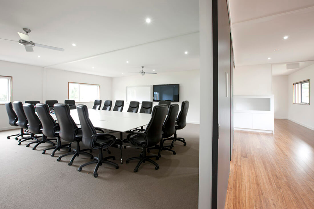 Commercial modular building boardroom at Melbourne Zoo