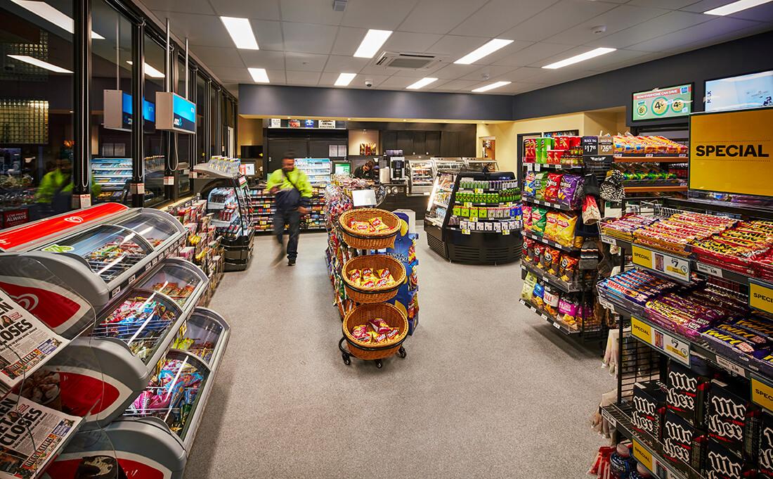 Interior view of prefab shop in Oakleigh