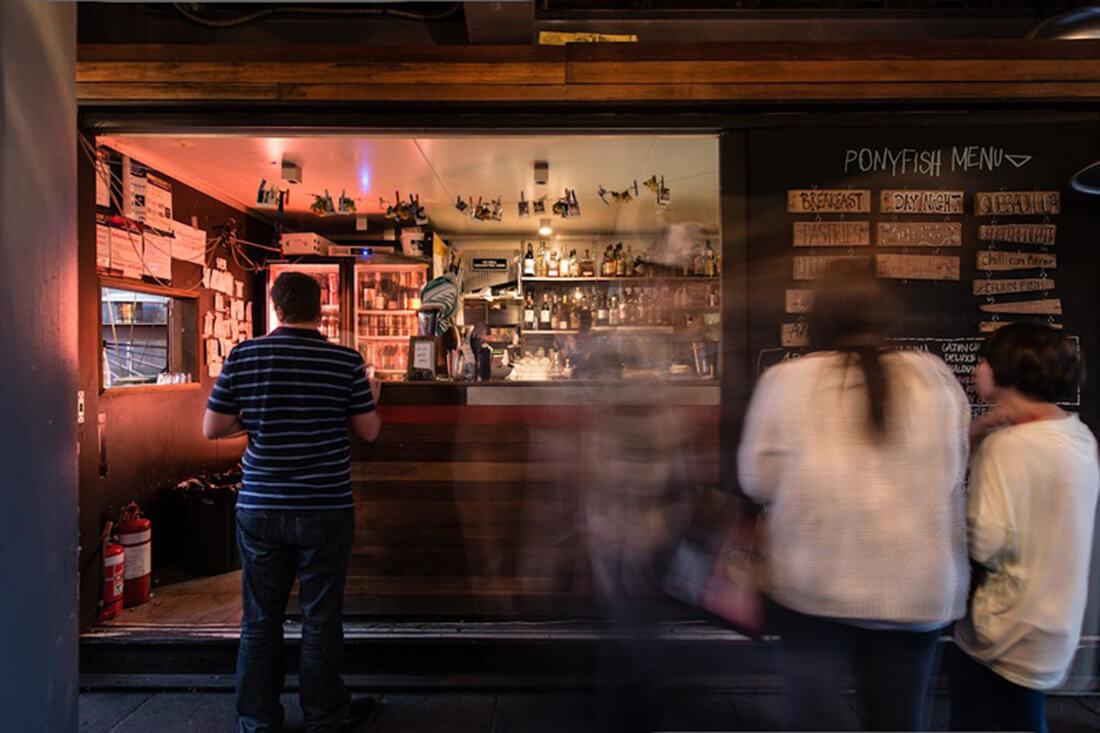 Modular built bar in Melbourne CBD