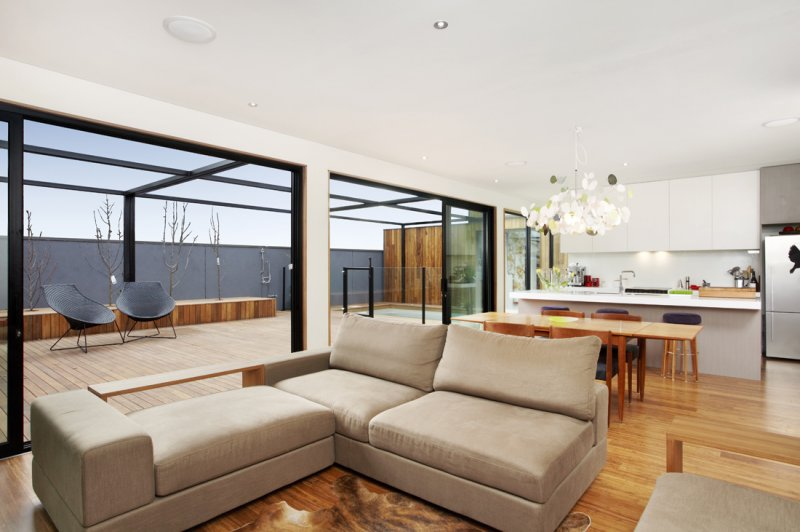 Modular extension on a traditional home in Melbourne