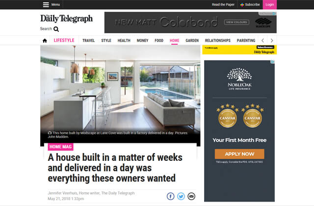 Modscape featured on DailyTelegraph