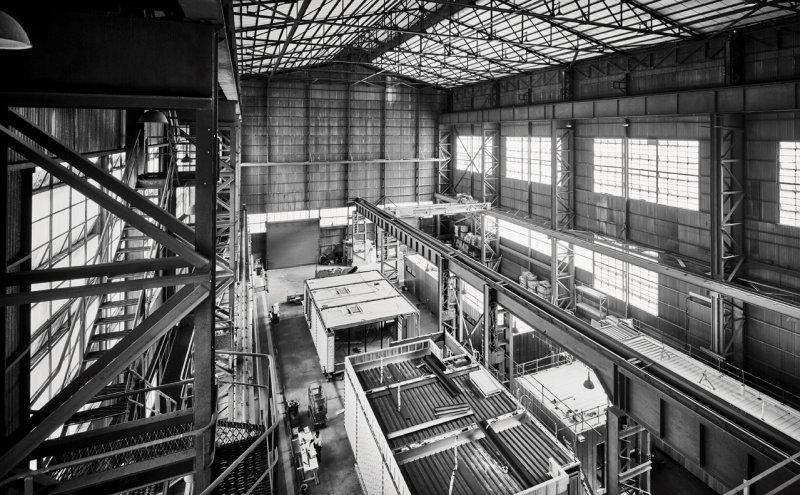 Inside Modscape factory in Brooklyn