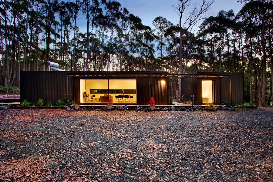 Prefab home in the Australian rural forest