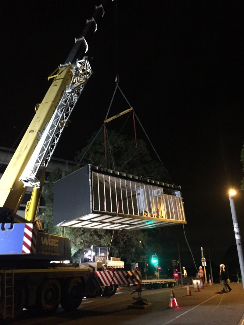 Hornsby Hospital night time install