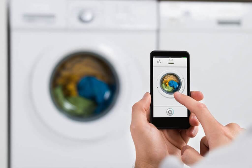 Smart washer for a connected home. Laundry inspiration.