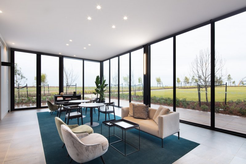 Sitting area inside Victoria's largest prefabricated Display Suite
